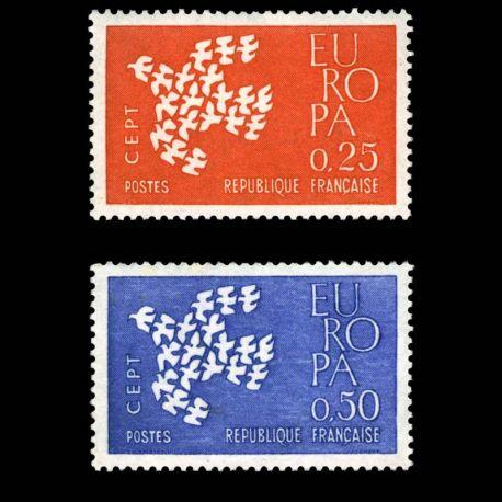 Timbres France Série N° 1309/1310 neuf sans charnière