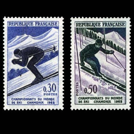 Timbres France Série N° 1326/1327 neuf sans charnière