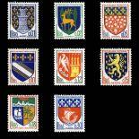 Timbres France Série N° 1351A/1354B neuf sans charnière