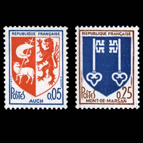 Timbres France Série N° 1468/1469 neuf sans charnière