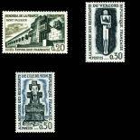 Briefmarken Reihe von France N ° 1335/1337 Postfrisch