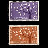 Serie francobolli di Francia N ° 1358/59 Nuevo non linguellato