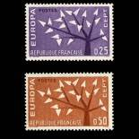 Serie Sellos de Francia N ° 1358/59 nuevos sin charnela