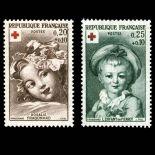 Serie francobolli di Francia N ° 1366/67 Nuevo non linguellato
