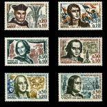 Serie Sellos de Francia N ° 1370/75 nuevos sin charnela