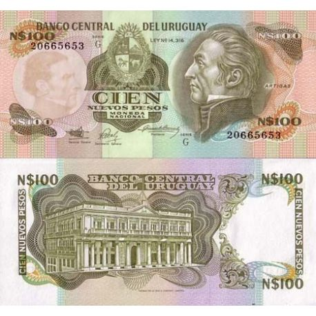 Uruguay - Pk N° 62 - Billet de 100 N.Pesos