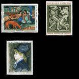 Timbres France Série N° 1568/1570 neuf sans charnière