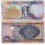 Colección de billetes Nuevas Hébridas Vanuatu Pick número 8 - 200 Vatu
