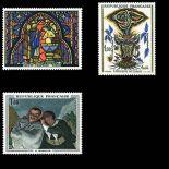 Serie Sellos de Francia N ° 1492/1494 nuevos sin charnela