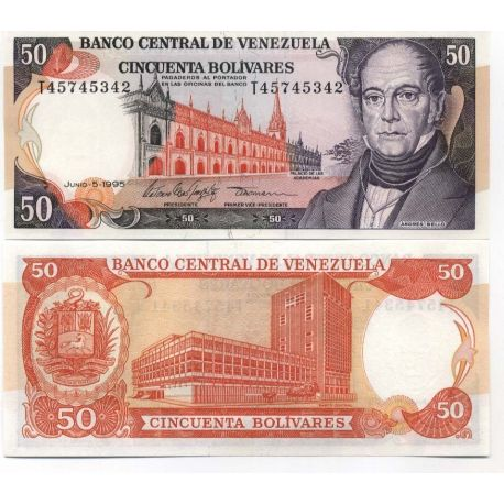 Billets collection Venezuela Pk N° 72 - 50 Bolivares