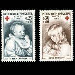 Timbres France Série N° 1466/67 neuf sans charnière