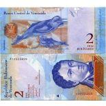Banknote collection Venezuela Pick number 88 - 2 Bolivar