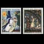Serie Sellos de Francia N ° 1398/1399 nuevos sin charnela