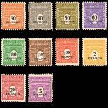 Serie francobolli di Francia N ° 702/711 Nuevo non linguellato