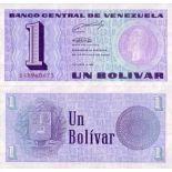 Schone Banknote Venezuela Pick Nummer 68 - 1 Bolivar