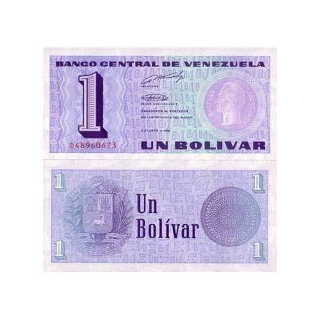 Billets de collection Billet de banque Venezuela Pk N° 68 - 1 Bolivar Billets du Venezuela 2,50 €