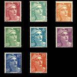 Serie francobolli di Francia N ° a 806/13 Nuevo non linguellato
