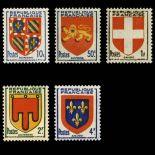Timbres France Série N° 834/838 neuf sans charnière