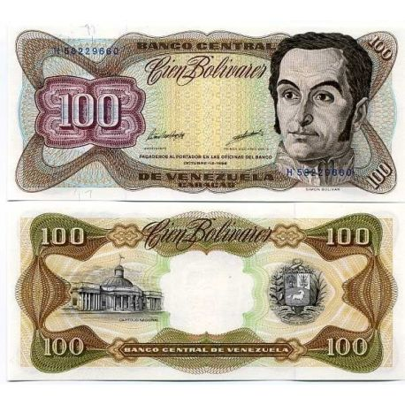 Billet de collection Venezuela Pk N° 66 - 100 Bolivares