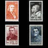 Serie francobolli di Francia N ° 844/847 Nuevo non linguellato