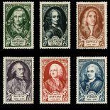 Briefmarken Reihe von France N ° 853/858 Postfrisch