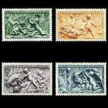 Serie francobolli di Francia N ° 859/862 Nuevo non linguellato