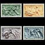 Serie Sellos France N ° 859/862 nuevos sin charnela