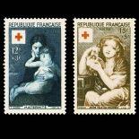 Serie francobolli di Francia N ° 1006/1007 Nuevo non linguellato