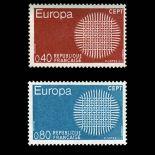 Serie francobolli di Francia N ° 1637/38 Nuevo non linguellato