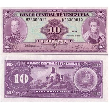 Billets collection Venezuela Pk N° 61 - 10 Bolivares
