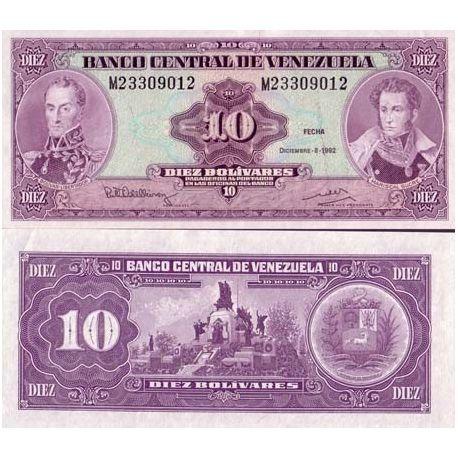Venezuela - Pk N° 61 - Billet de 10 Bolivares