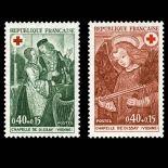 Serie francobolli di Francia N ° 1661/62 Nuevo non linguellato