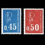 Serie francobolli di Francia N ° 1663/1664 Nuevo non linguellato