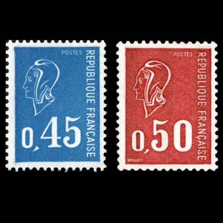 Timbres France Série N° 1663/1664 neuf sans charnière