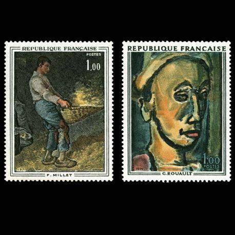 Timbres France Série N° 1672/1673 neuf sans charnière