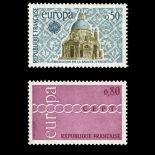 Serie francobolli di Francia N ° 1676/77 Nuevo non linguellato