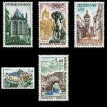 Serie francobolli di Francia N ° 1683/87 Nuevo non linguellato