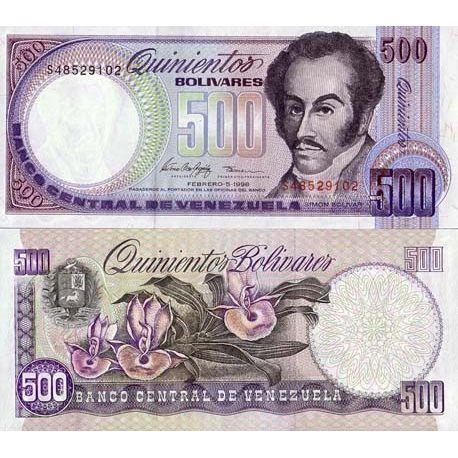 Billet de banque Venezuela Pk N° 67 - 500 Bolivares