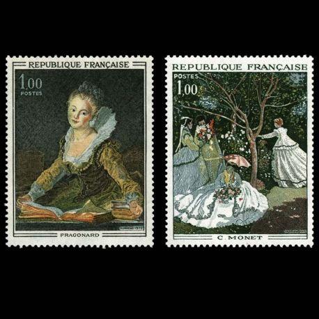 Timbres France Série N° 1702/1703 neuf sans charnière
