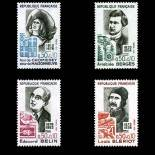 Stamps series of France N° 1706/09 Mint NH