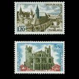 Briefmarken Reihe von France N ° 1712/1713 Postfrisch