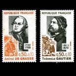 Stamps series of France N° 1727/28 Mint NH
