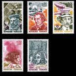 Briefmarken Reihe von France N ° 1744/48 Postfrisch