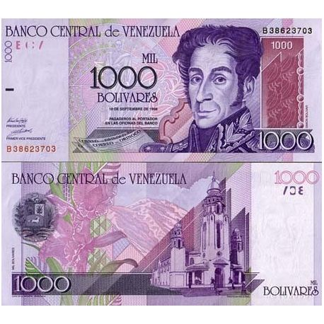 Billet de collection Venezuela Pk N° 79 - 1000 Bolivares