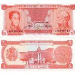 Banknoten Venezuela Pick Nummer 70 - 5 Bolivar