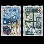 Briefmarken Reihe von France N ° 1828/29 Postfrisch