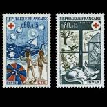 Serie francobolli di Francia N ° 1828/29 Nuevo non linguellato