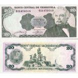 Beautiful banknote Venezuela Pick number 63 - 20 Bolivar