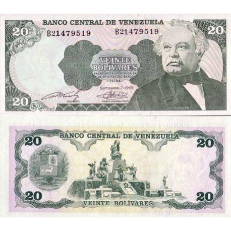 Venezuela - Pk N° 63 - Billet de 20 Bolivares