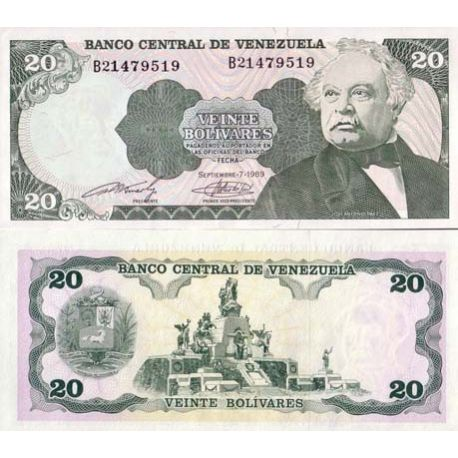 Billets banque Venezuela Pk N° 63 - 20 Bolivares